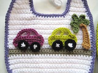 Ravelry Appliqu 233 D Crochet Bibs For Boys Pattern By