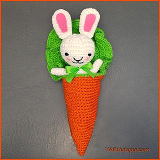 Free Crochet Carrot Cocoon Pattern : Ravelry: Bunny Amigurumi in a Carrot Cocoon pattern by ...