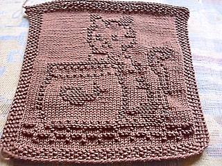 Knitting Pattern Central Dishcloths : Ravelry: Spuli Katze mit Goldfischglas pattern by Mamafri