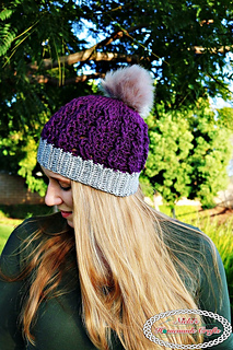 f7e0a9cfe Ravelry  Ribbed Cable Textured Beanie pattern by Nicole Riley