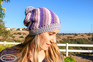 4f31b50e774 Ravelry  Spiral Slouchy Hat pattern by Nicole Riley