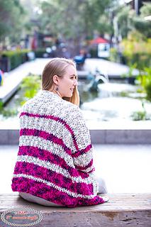 Striped Velvet Cardigan pattern by Nicole Riley