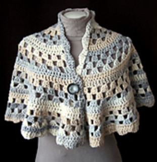 Crochet Pattern For Nursing Shawl : Ravelry: Half Moon Shawl #60831A pattern by Lion Brand Yarn