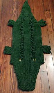 Ravelry: Bayou Alligator / Crocodile Lap Blanket Sack ...