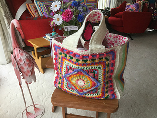 Ravelry The Jackfield Tile Tote Bag Pattern By Christine Bateman