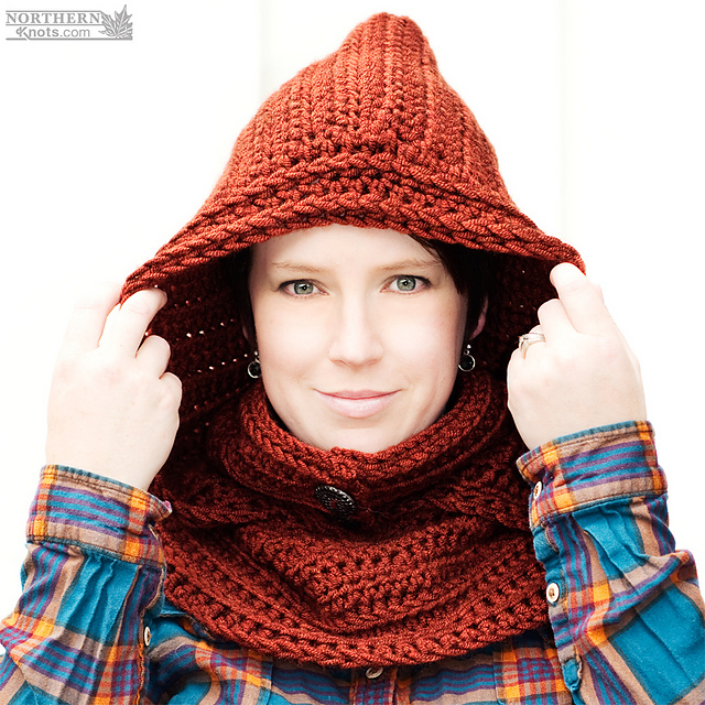 Ravelry North Winds Hooded Cowl Adult Pattern By Northern Knots
