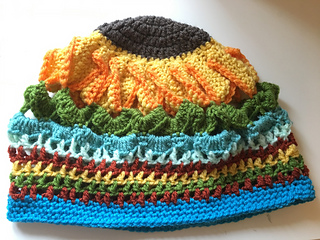 69b4e447b83b3 Ravelry  Sunflower Slouchy Beanie Hat pattern by Ok Then What s Next