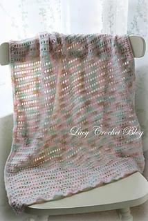 Ravelry Natural Girl Simple Baby Blanket In Variegated