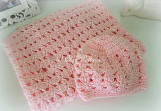 03d0e6465 Ravelry  Clusters Baby Blanket and Hat pattern by Olga Poltava