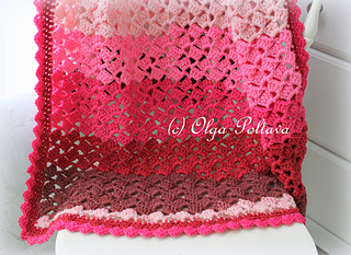 Cherry Chip Baby Afghan pattern by Olga Poltava