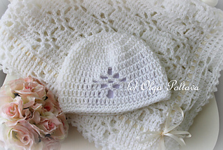 314873f07 White Lace Christening Blanket and Hat pattern by Olga Poltava