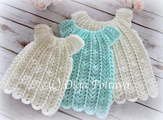96d5f165d Ravelry  Shells Baby Dress pattern by Olga Poltava