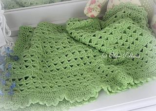 6c5eb931d Ravelry  Scallops Baby Afghan pattern by Olga Poltava