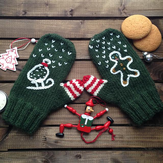 ravelry christmas stories mittens pattern by olya yakushkina - Christmas Mittens
