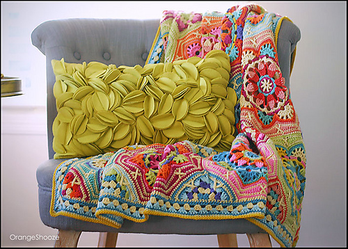 kristine favorited OrangeShooze's Persian Tile / Eastern Jewels Blanket