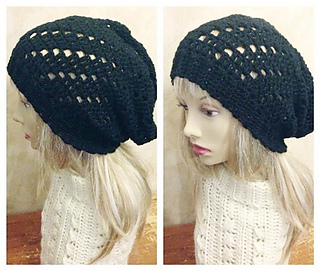 e9cdfadcb17 patterns   PD Designs  Ravelry Store.   Staggered Lace Slouchy Hat