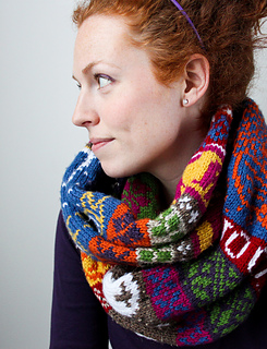 'My Favourite Things' Infinity Scarf pattern by Jill McGee