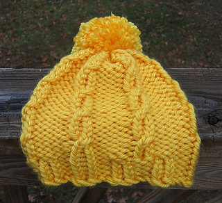 968bfcfbb91 Ravelry  Loom Knit Cable Hat and Wristers (Hat) pattern by Lion Brand Yarn