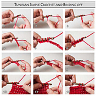 Ravelry Left Handed Instruction Pictures For Tunisian Crochet