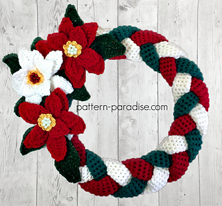 ravelry braided christmas wreath pattern by maria bittner