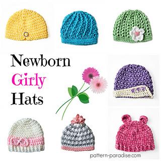 Crochet_pattern_7_newborn_girly_hats_by_pattern-paradise