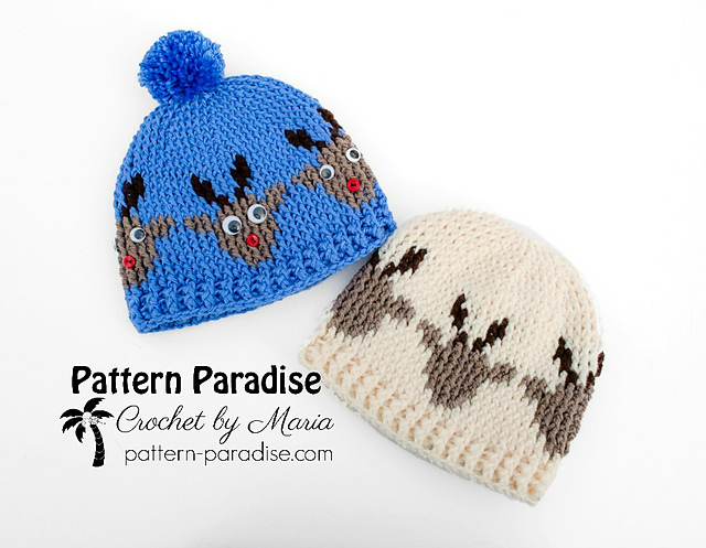 Ravelry Reindeer Hat Pattern By Maria Bittner
