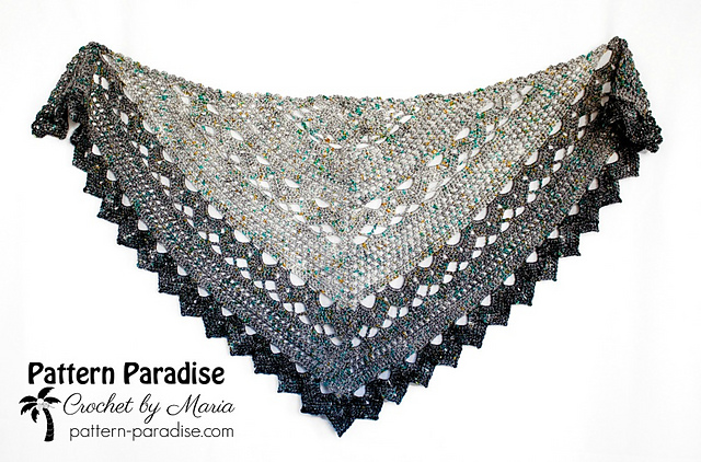 Ravelry Spring Showers Shawl Pattern By Maria Bittner