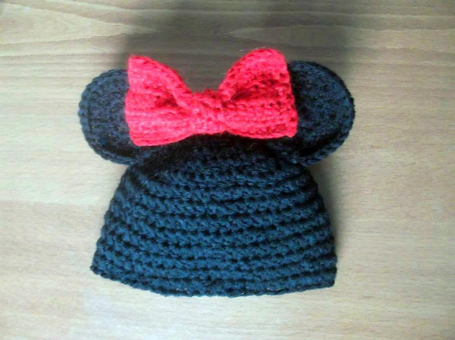 Ravelry Mickey And Minnie Mouse Hat Pattern By Pattern Studio