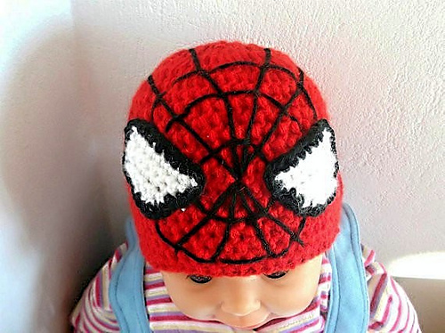 Ravelry Spiderman Hat Earflap Beanie All Sizes Pattern By