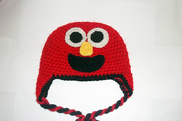 Ravelry Elmo Hat Beanie And Earflap 7 Sizes Newborn To Adult