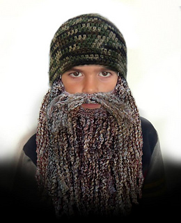 37856aba7fc Ravelry  Duck Dynasty Hat and Beard CROCHET PATTERN - 7 sizes ...