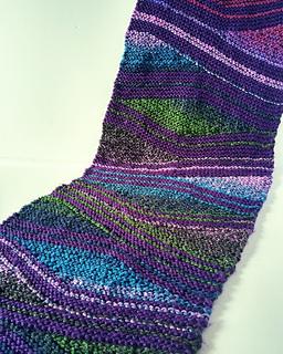 Ravelry Wave Knit Scarf Pattern By Sandra Clarke
