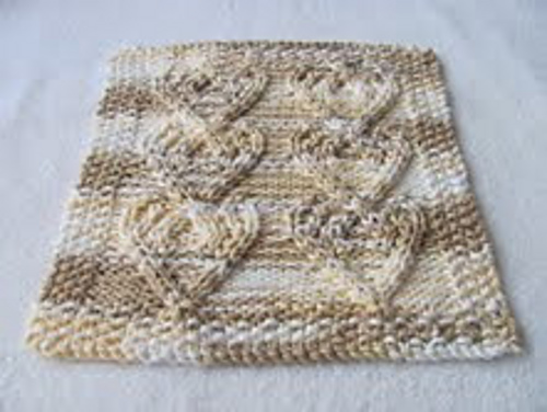 Ravelry Cabled Heart Cloth Pattern By Roxees Knitting Fun