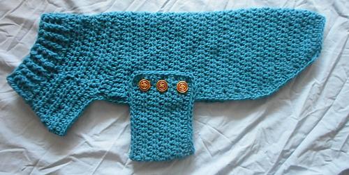Ravelry Dog Sweater With Ribbed Neck Pattern By Paula Shea