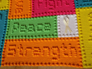 Ravelry cancer support motif lap blanket pattern by peach unicorn dt1010fo