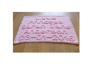 ravelry personalized baby blanket pattern by peach unicorn