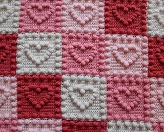 Ravelry heart motifs baby blanket pattern by peach unicorn dt1010fo