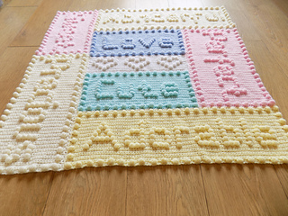Ravelry Precious Words Baby Blanket Pattern By Peach Unicorn