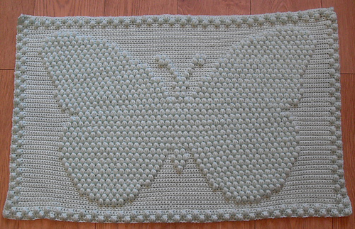 Ravelry Butterfly Puff Baby Blanket Pattern By Peach Unicorn