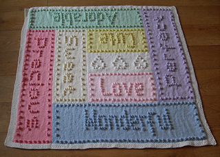 Ravelry: Sweet Dreams Bobble Baby Blanket Words pattern by ...