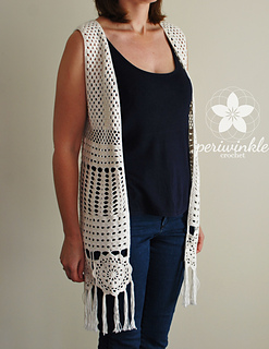 Periwinkle Boho By Long Pattern Vest Crochet vn0N8mwO