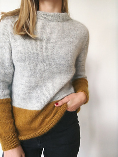Ravelry Contrast Sweater Pattern By Petiteknit
