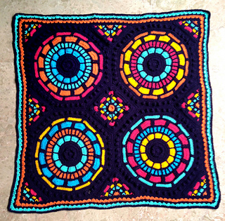 Ravelry Summer Mosaic Afghan Pattern By Julie Yeager