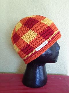 Ravelry  Gingham Beanie - Adults Plaid Hat pattern by Liz McQueen 6d0e4da5803