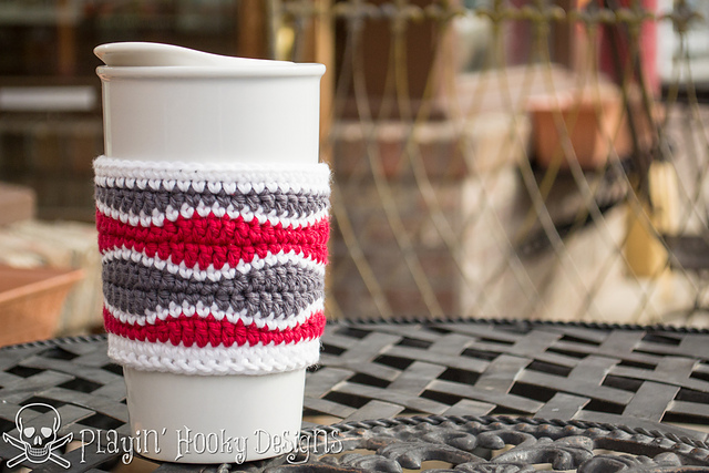 Ravelry Brain Waves Coffee Cozy Pattern By Liz Mcqueen