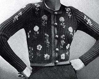 Ravelry: Tyrolean Black Modeen Jacket pattern by Minerva Yarns