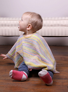 3025 Toddler Poncho pattern by Plymouth Yarn Design Studio