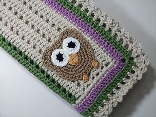 Big Eyed Owl Blanket: Crochet Pattern