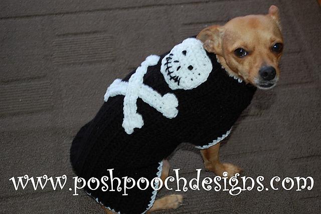 Ravelry Skull And Cross Bones Dog Sweater Pattern By Sara Sach