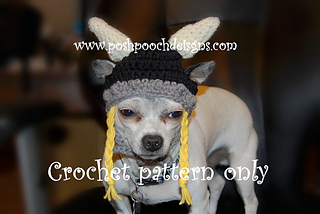 687f28b3d63 Ravelry  Viking Dog Hat Small pattern by Sara Sach